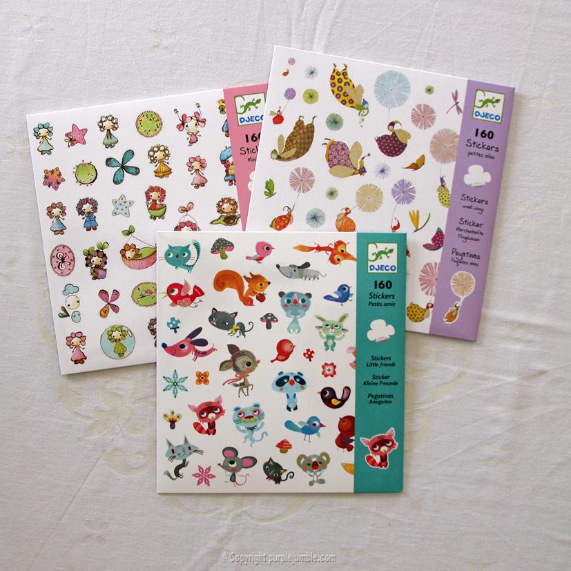 pochettes stickers djeco