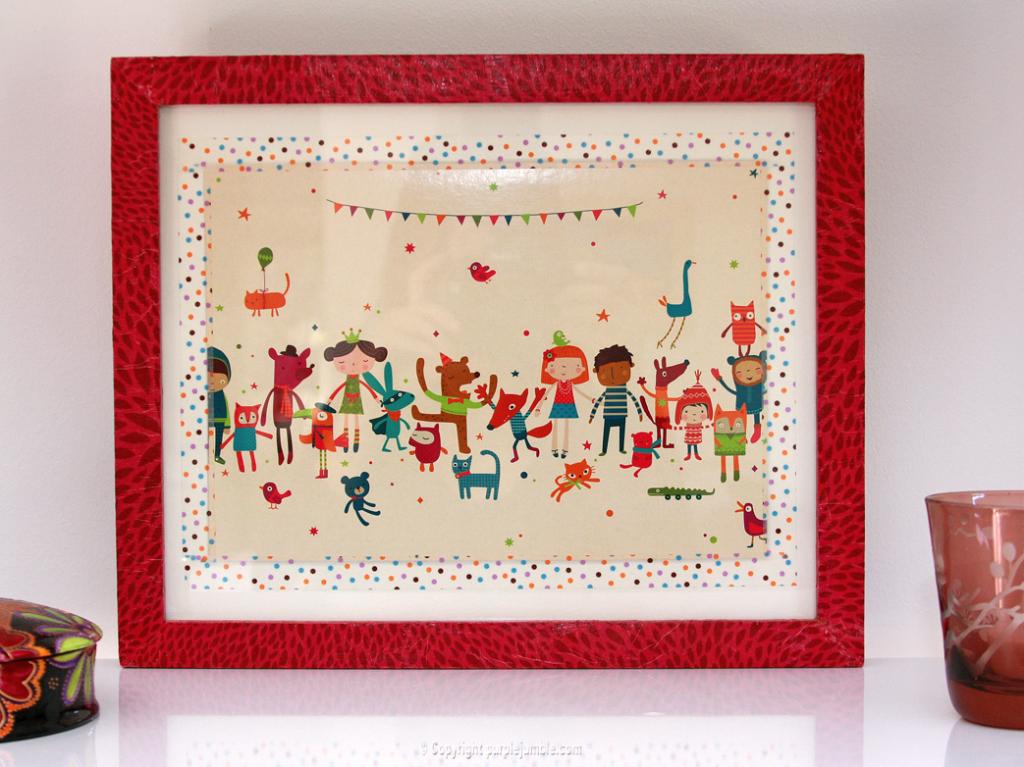 Diy un cadre color pour chambre d 39 enfant purple jumble for Cadre pour chambre enfant