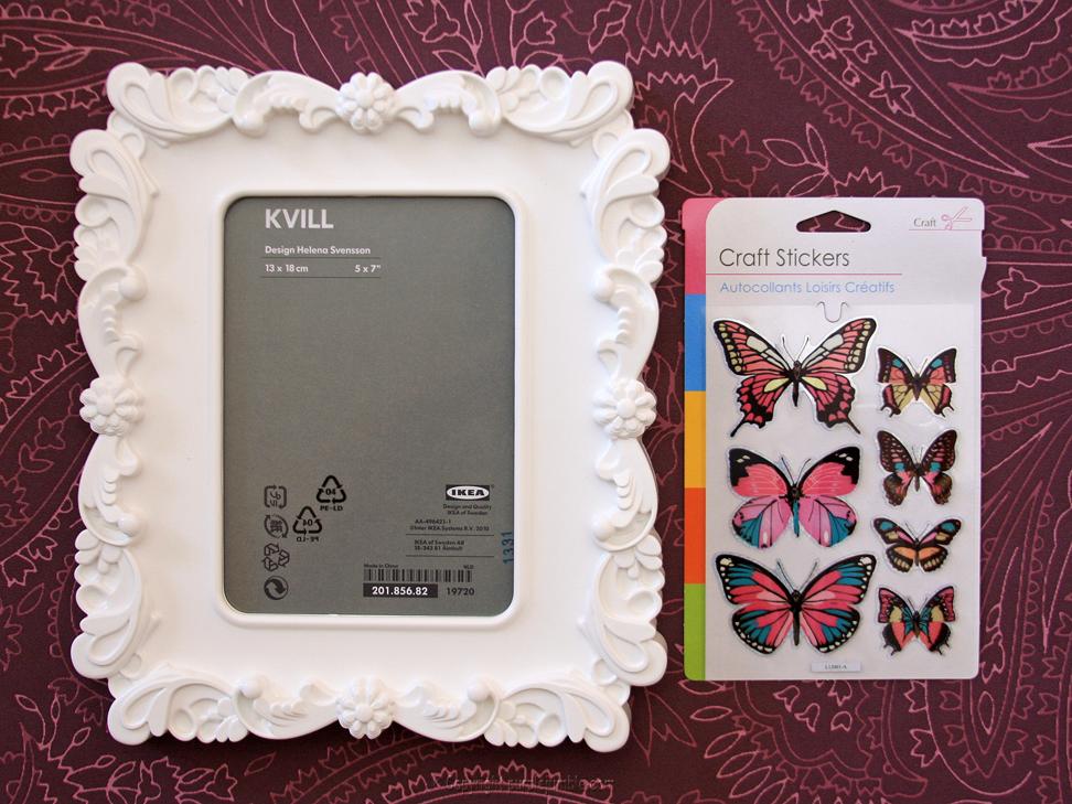 DIY cadre papillons  3 D