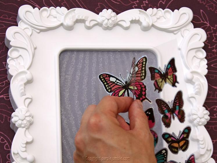 DIY cadre papillons 3D