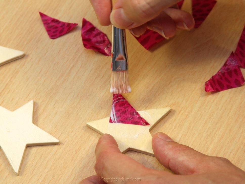 magnets bois étoiles décopatch