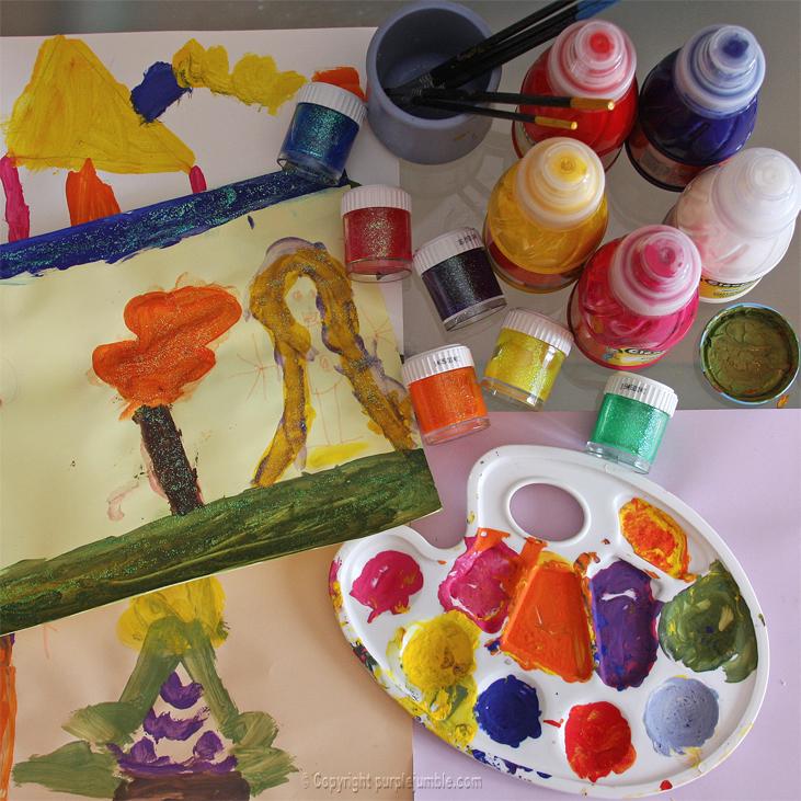 peinture paillettes