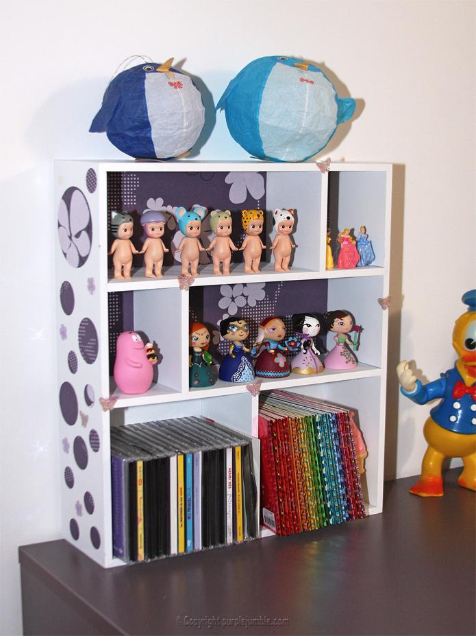 DIY étagère rangements enfant customisée