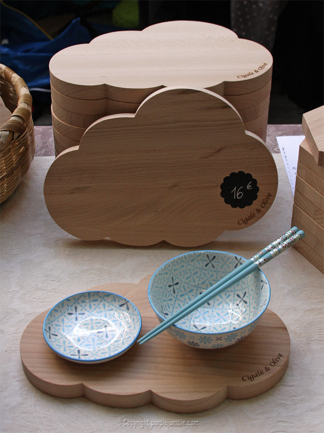 cigale et olive planches en bois nuage