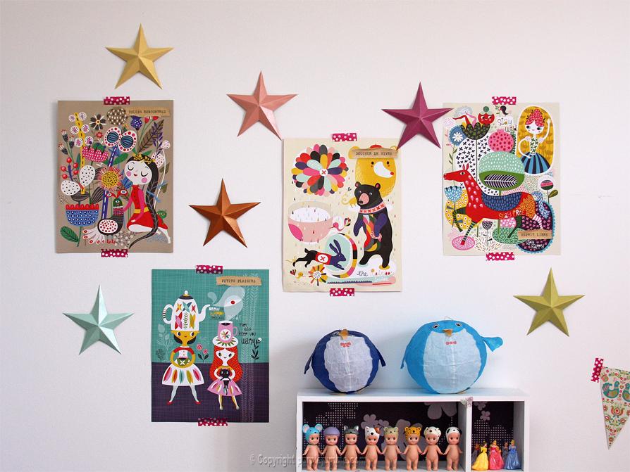 DIY étoiles en papier plié