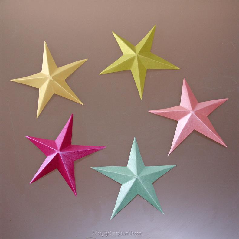 DIY étoiles en papier