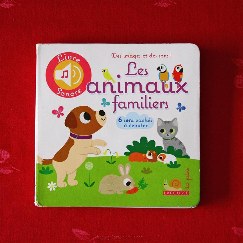 livre sonore les animaux familiers