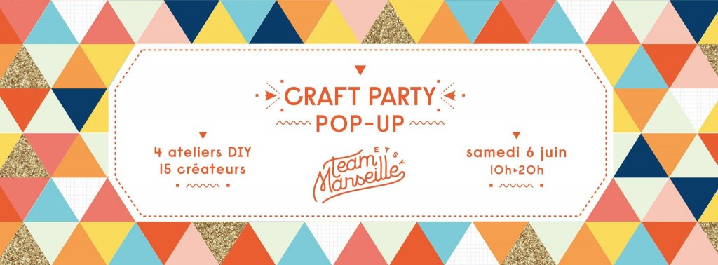 affiche etsy craft party marseille