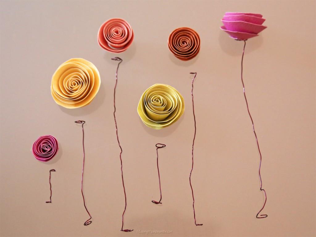 DIY cloche biche fleurs en papier