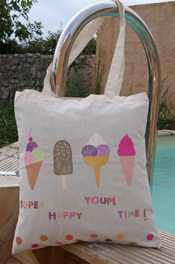 DIY tote bag glaces