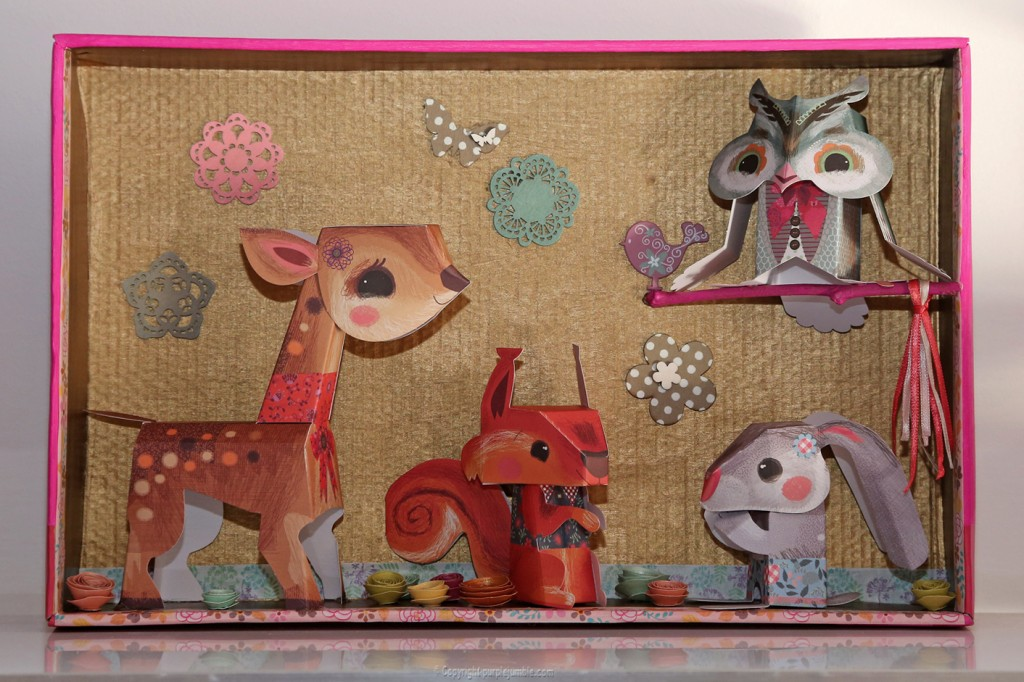 DIY forêt enchantée paper toys Djeco