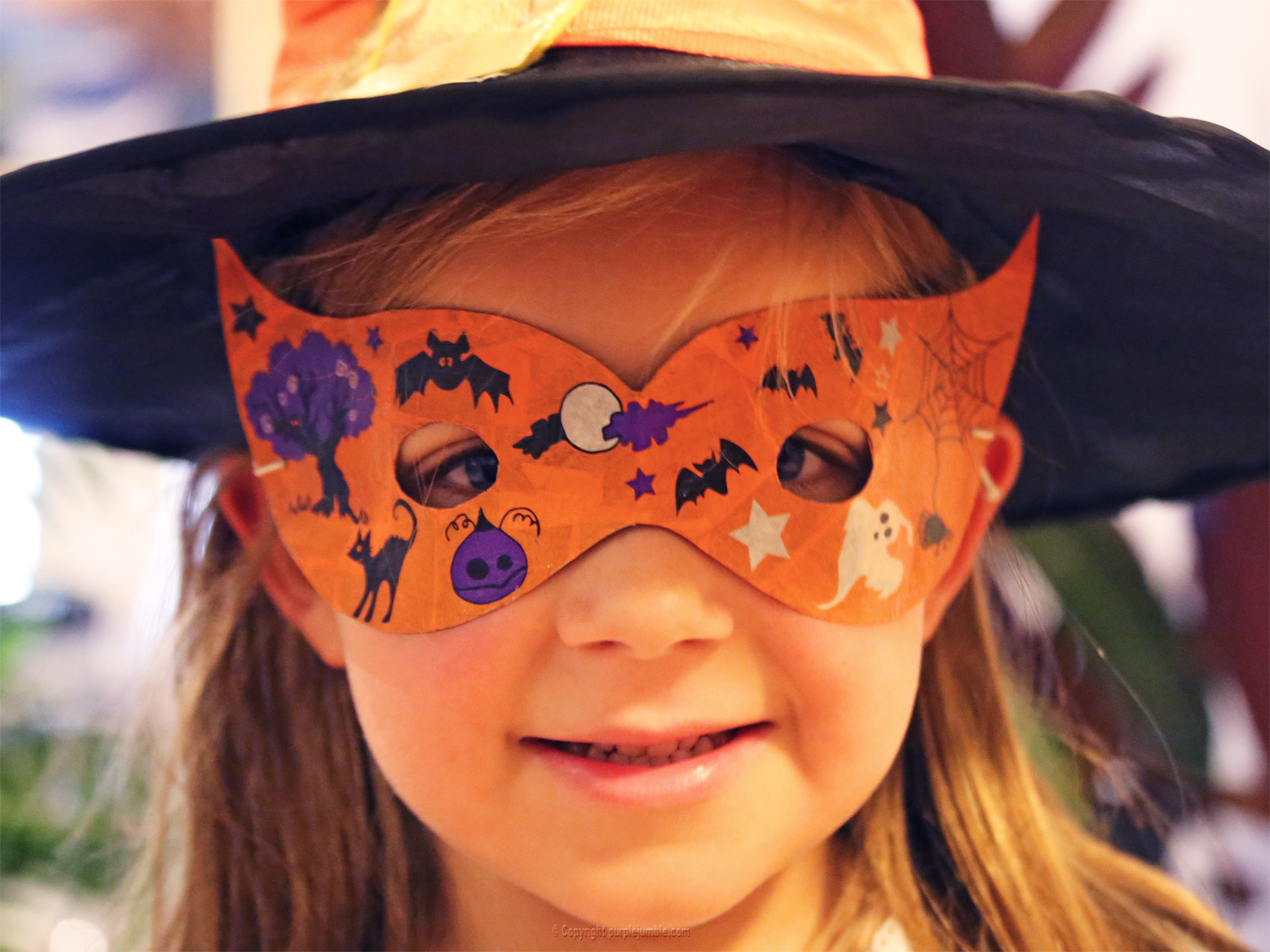Diy masque d 39 halloween purple jumble - Masque halloween a fabriquer ...