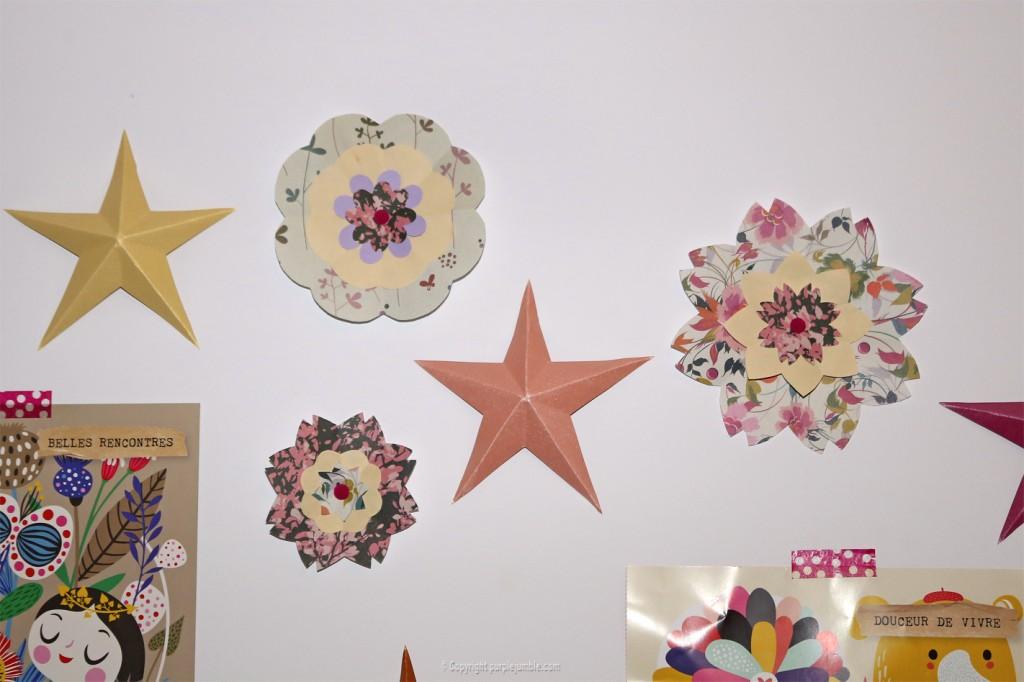 DIY fleurs murales en papier