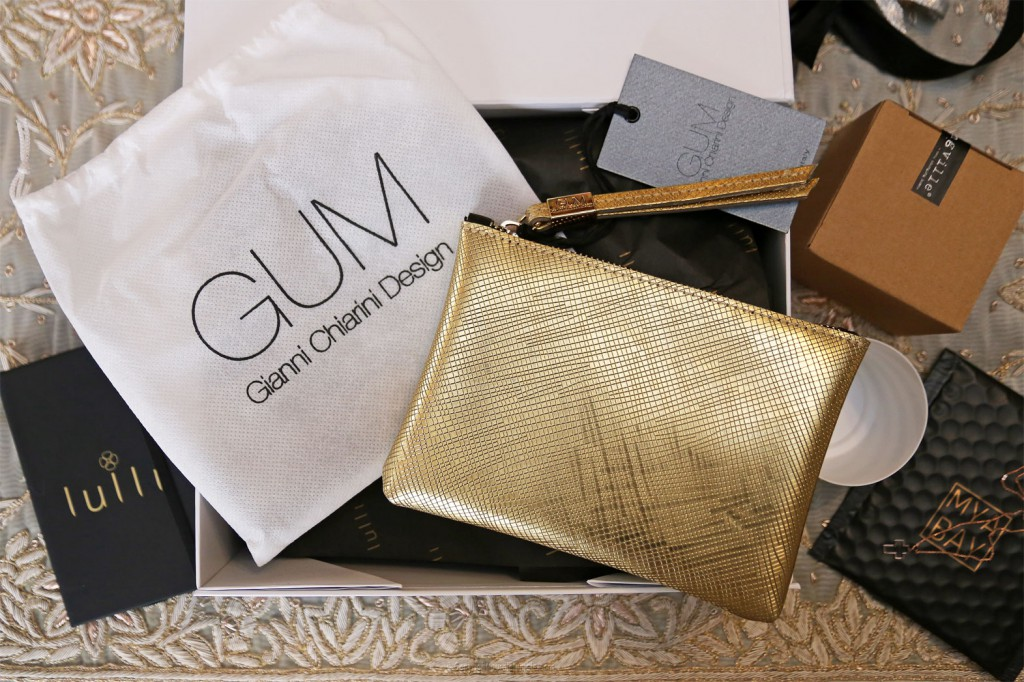 Lulli box pochette Beauty Gum gold de Gianni Chiarini
