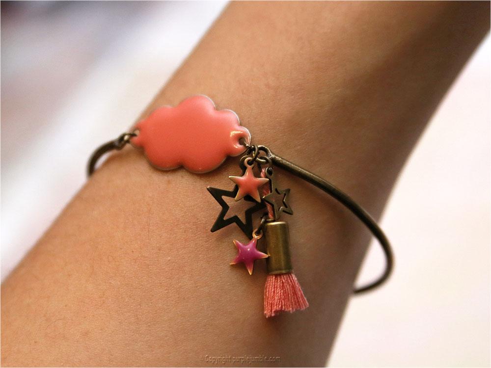 DIY bracelet nuage étoiles