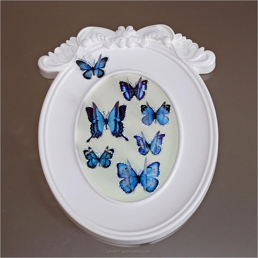 DIY cadre papillons