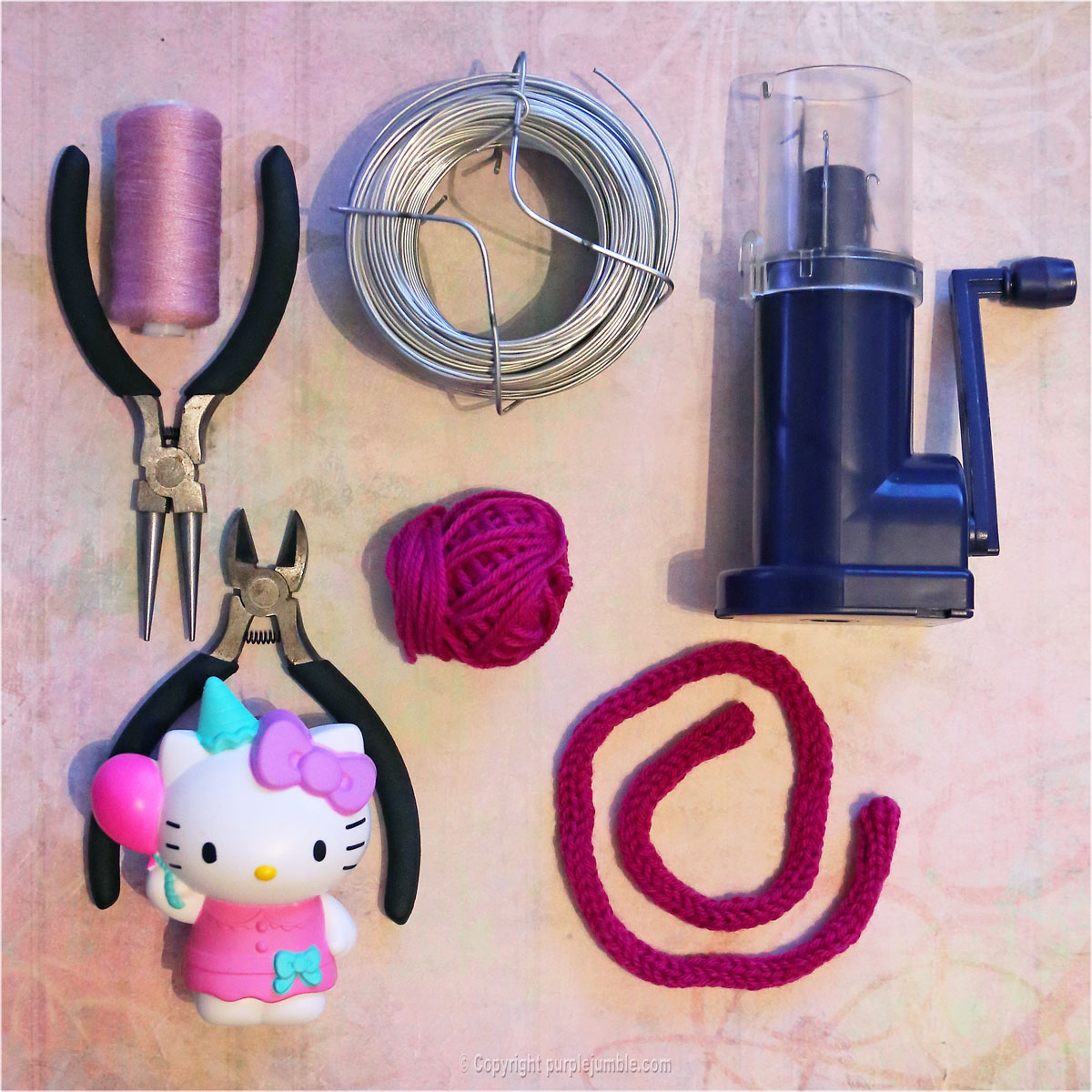 Diy un serre t te oreilles de chat purple jumble - Tete hello kitty ...
