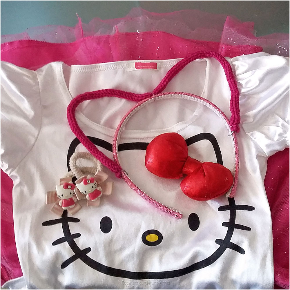 DIY serre tête oreilles de chat hello kitty