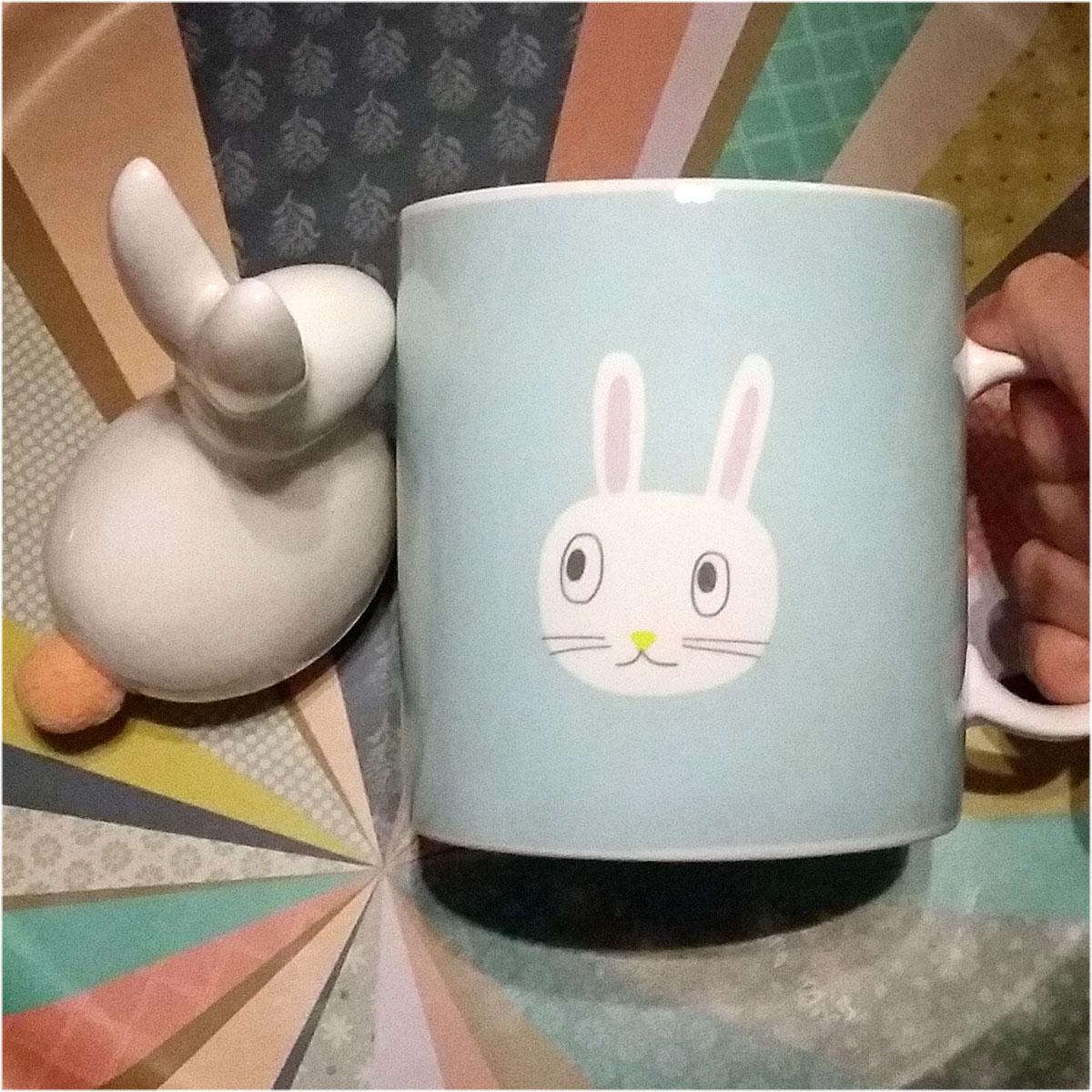 mug lapin figurine Monorpix