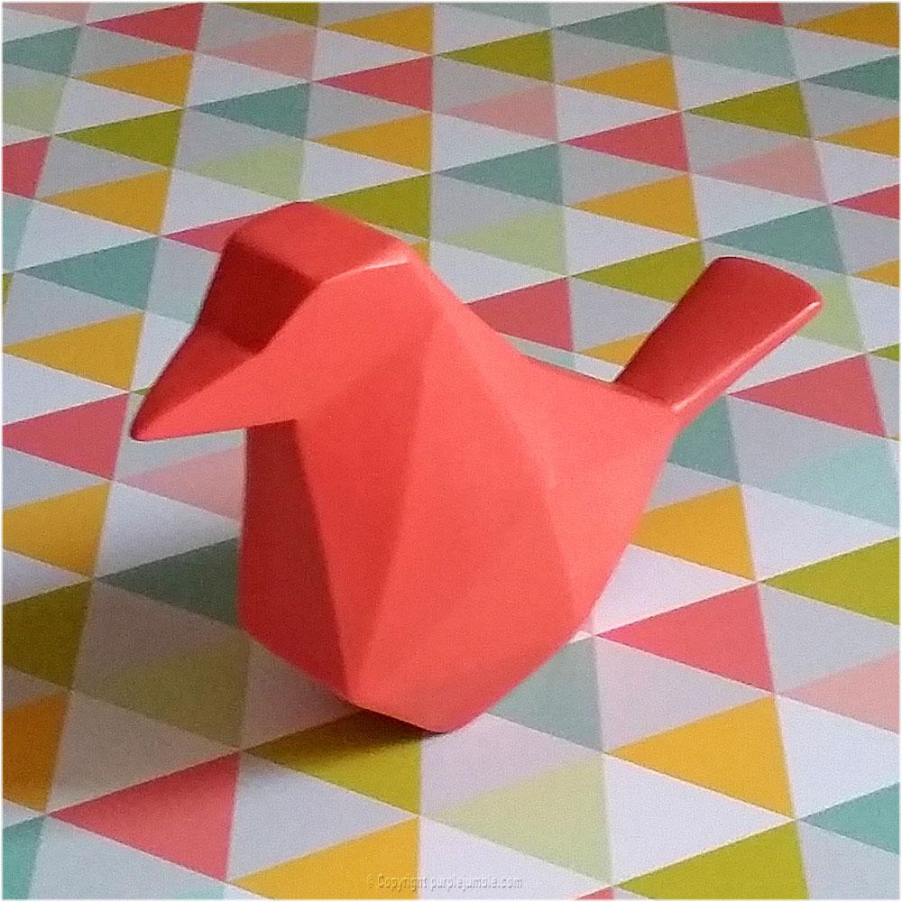 oiseau origami maisons du monde