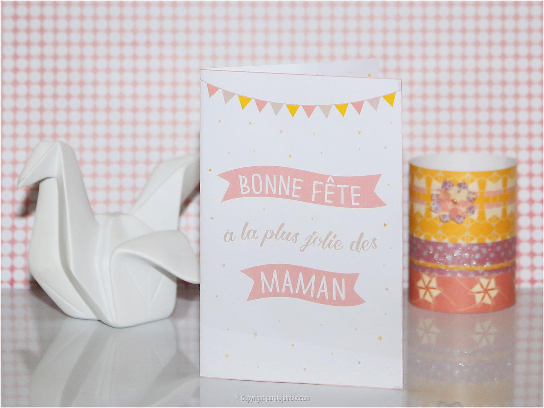 carte fête des mères en route félicie free printable