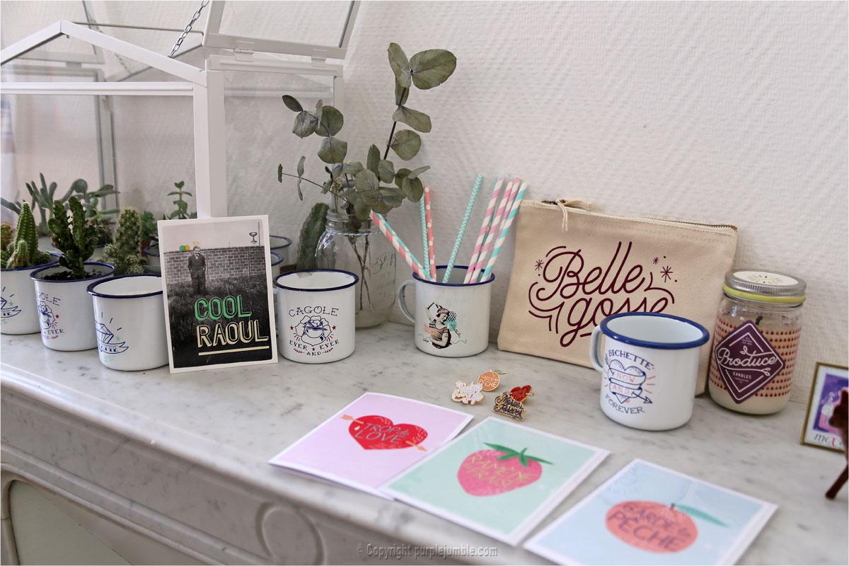 collection lolita picco mug cartes pins