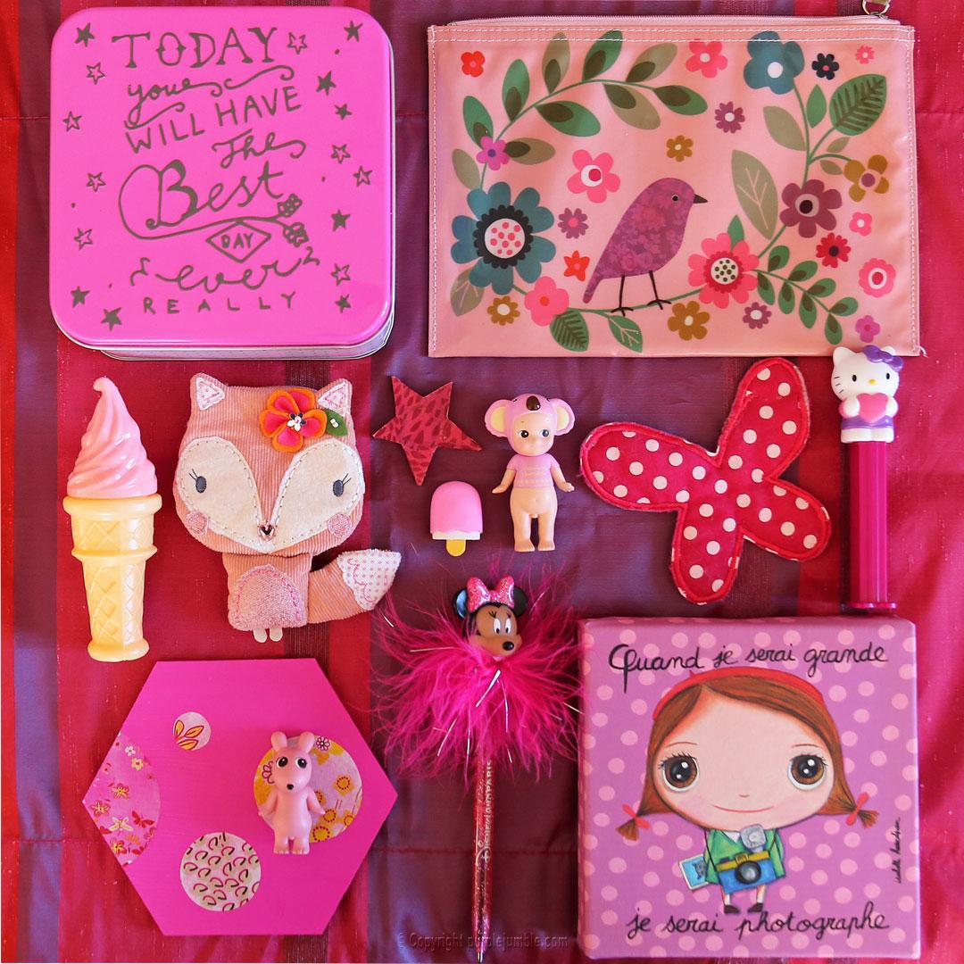 moodboard pink rose