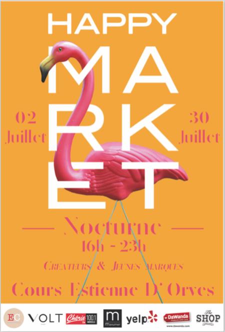 Happy Market Marseille Affiche nocturnes juillet 2016