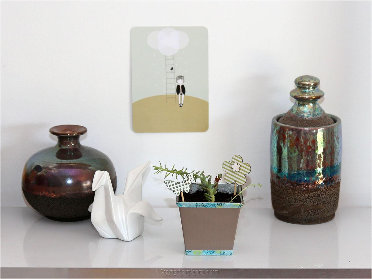 DIY pot customisé succulentes cadeau fête des pères