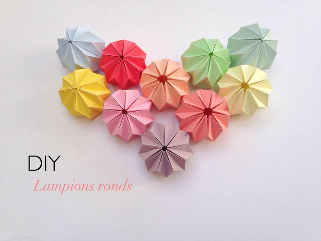 DIY cc fait des siennes lampions ronds origami