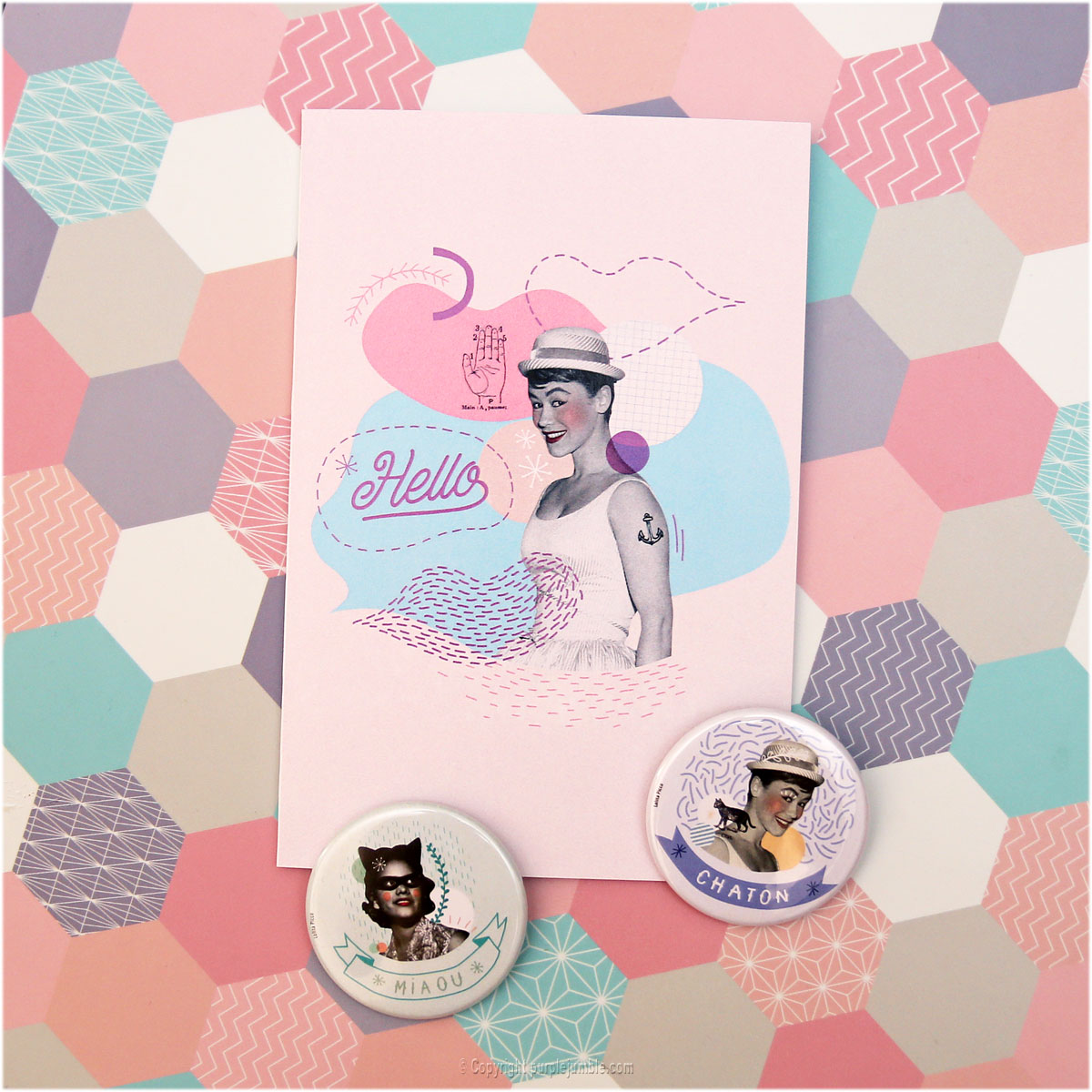 badges carte lolita picco