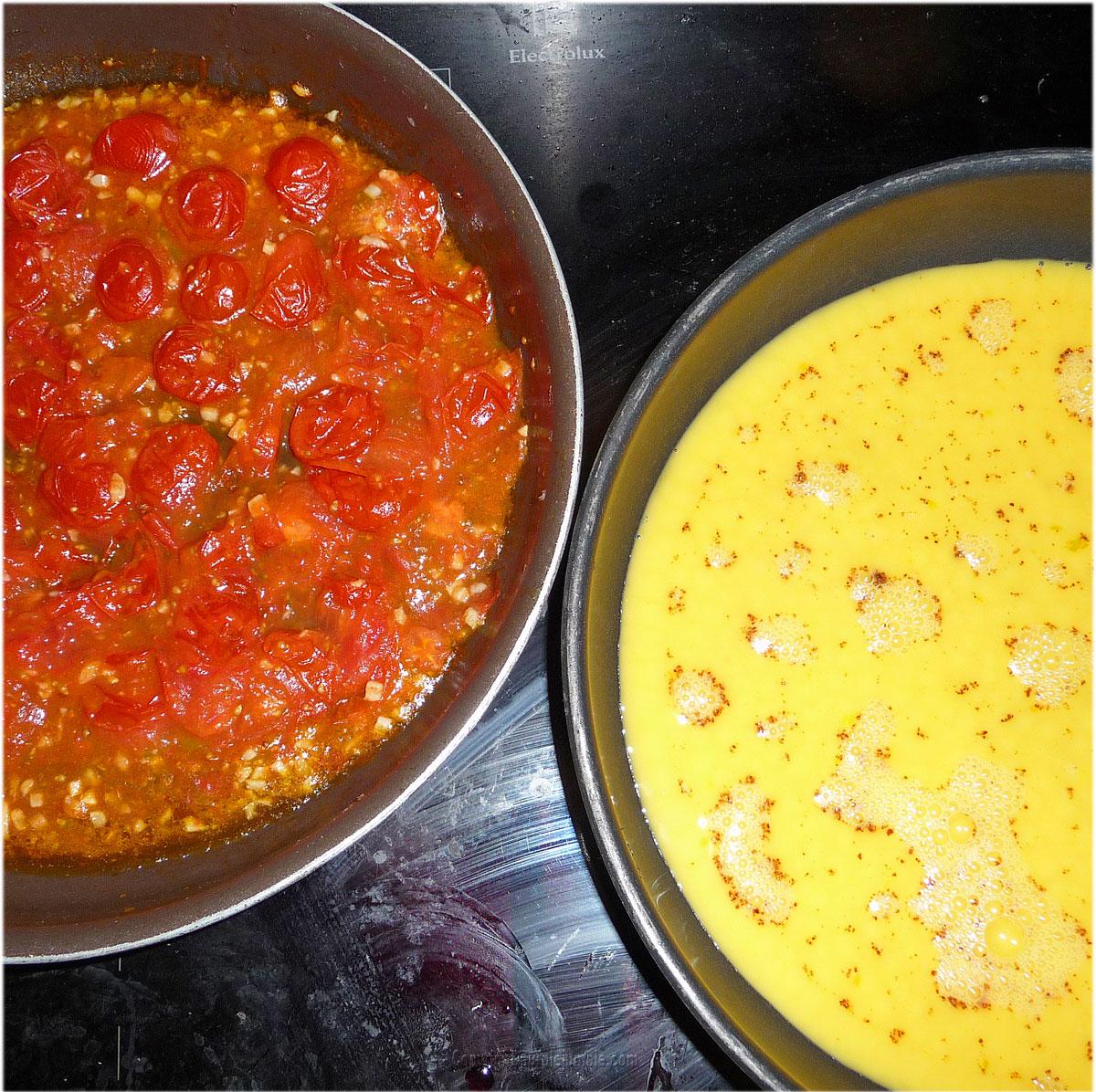 recette brouillade œufs tomates