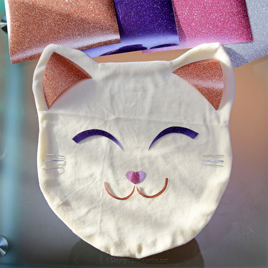 diy coussin chat kawaii visage