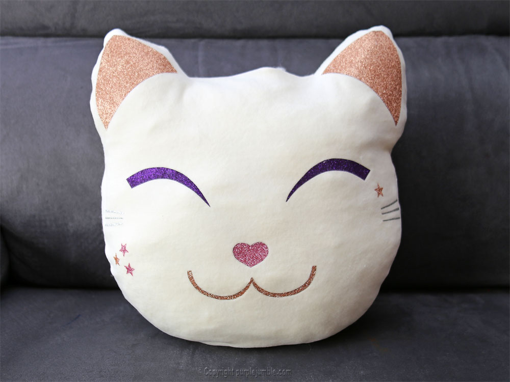 diy coussin chat kawaii fini