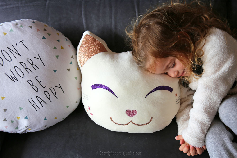diy coussin chat kawaii enfant