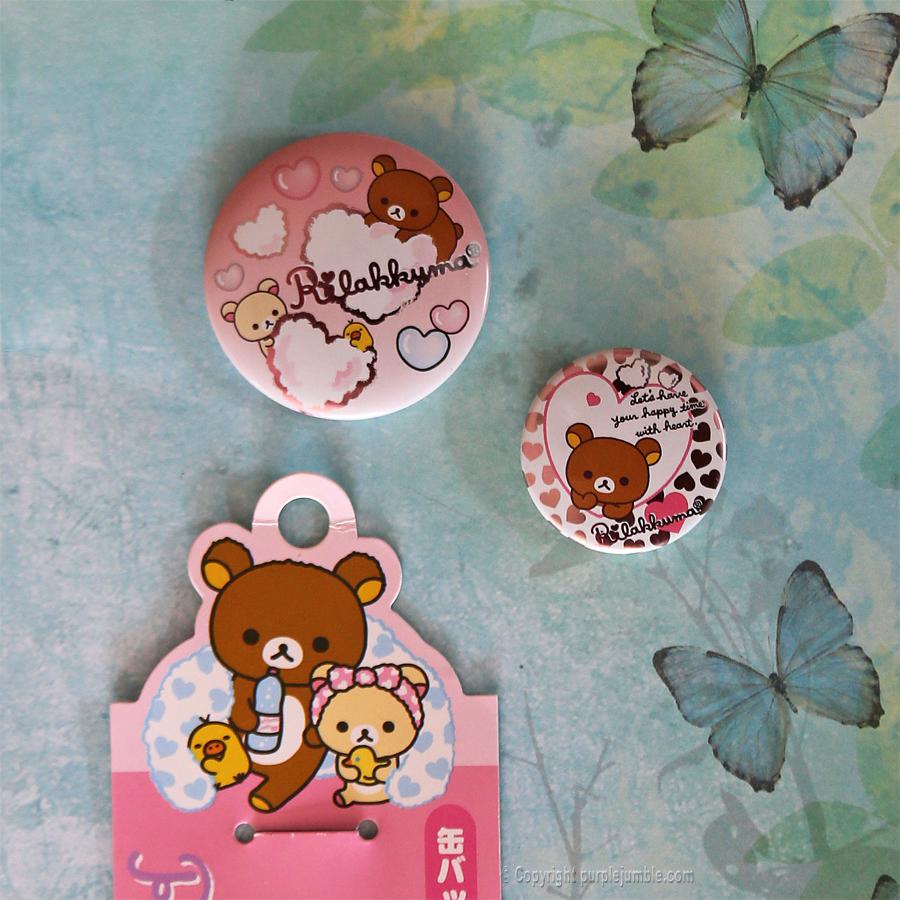 broches badges pin's rilakkuma
