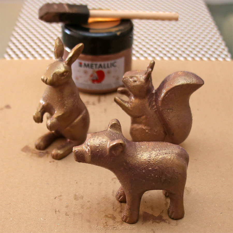 diy noel cuivre cloches verre animaux papier