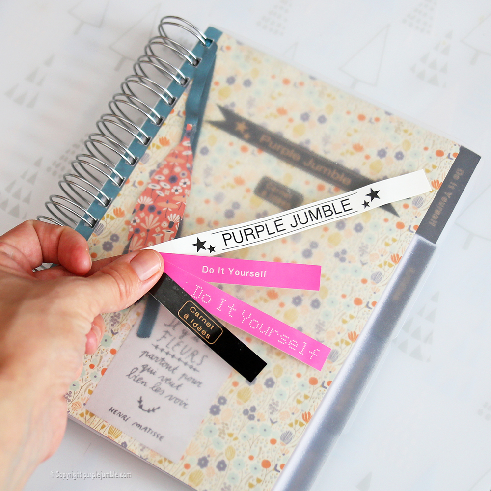 diy carnet customisé papier étiqueteuse brother