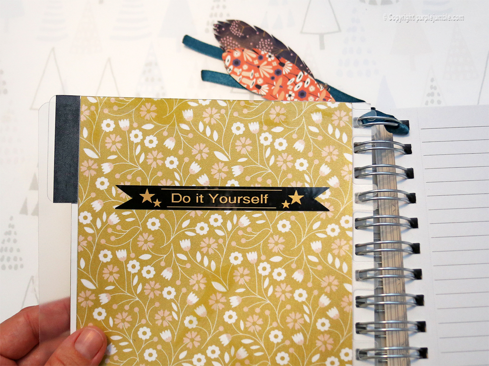 diy carnet customisé étiqueteuse brother