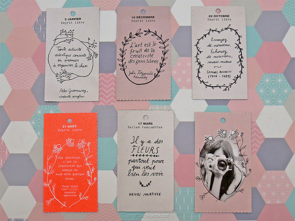diy carnet customisé papier citations étiquettes