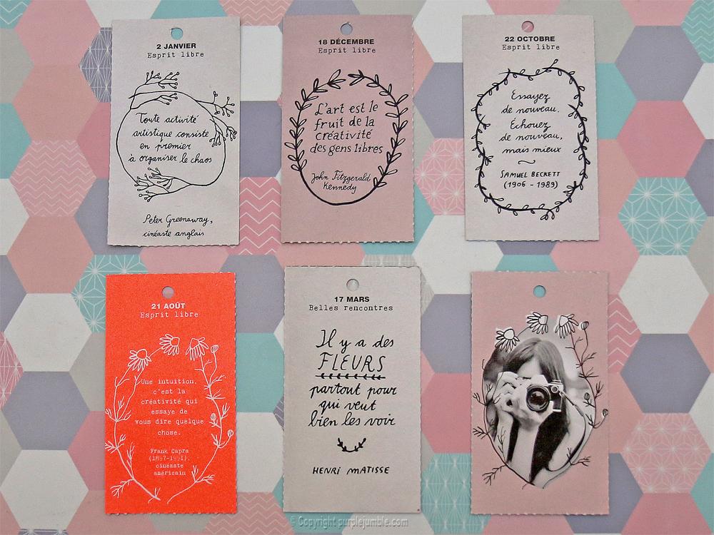 diy carnet customisé papier citations étiquettes