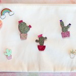 diy broche cactus paillettes