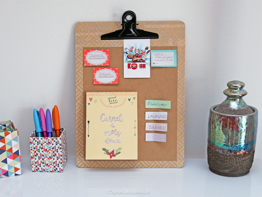 diy carnet à mots doux customisé décoration