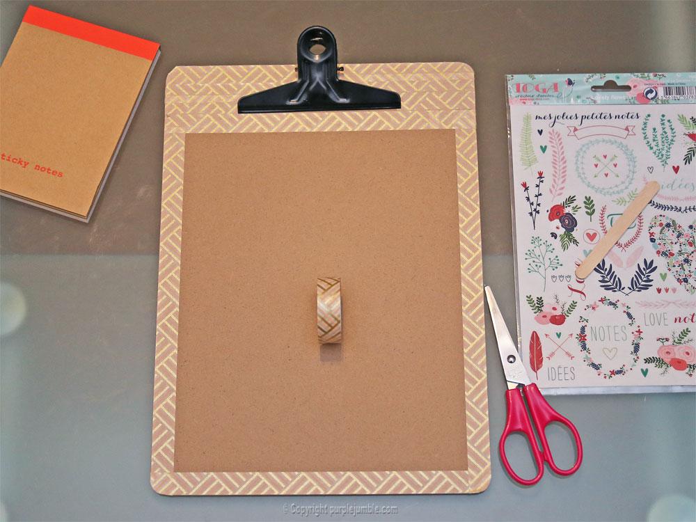 diy carnet à mots doux customisé masking tape