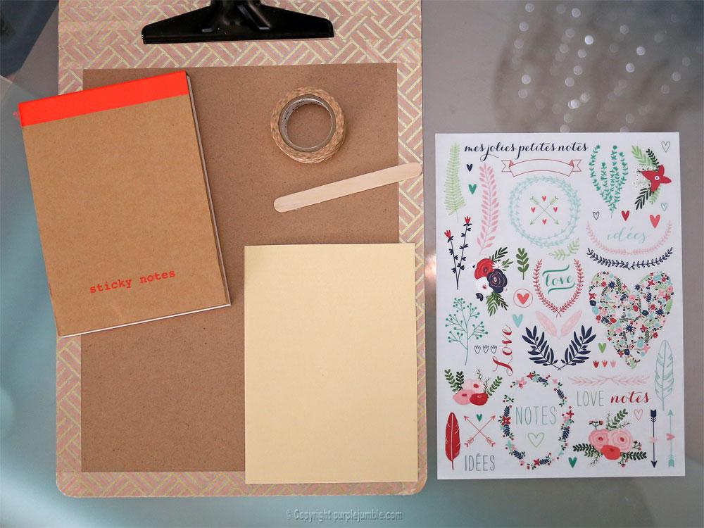 diy carnet à mots doux customisé papier