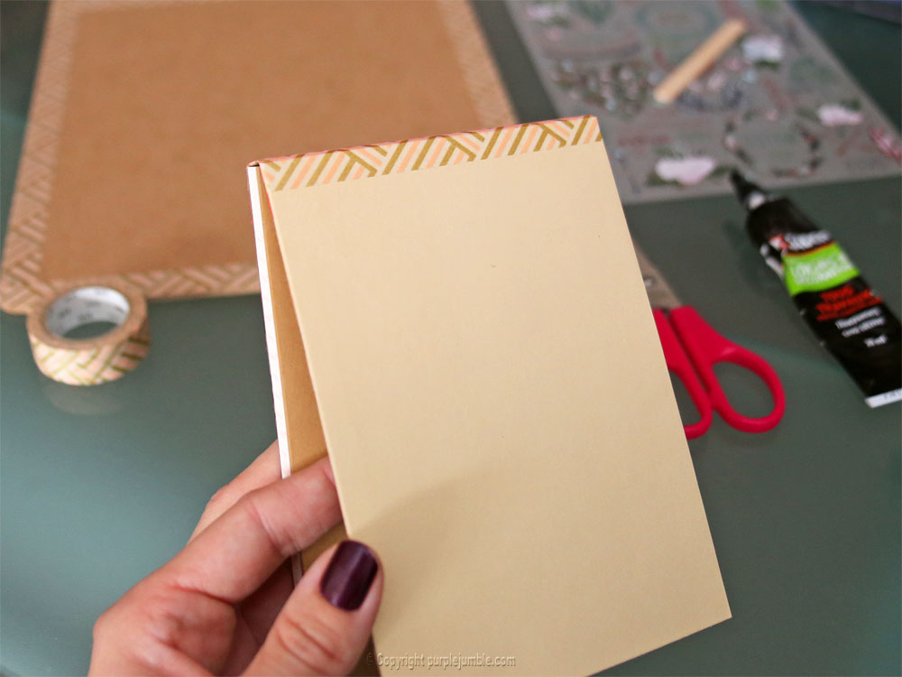 diy carnet à mots doux customisé carnet