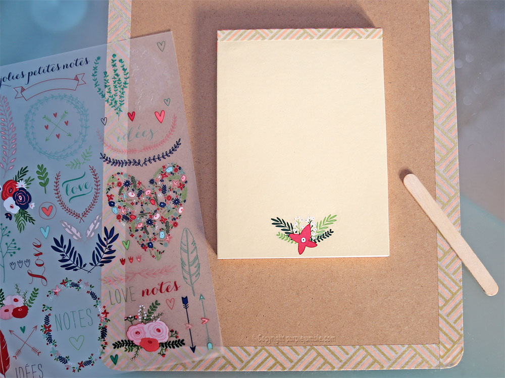 diy carnet à mots doux customisé fleurs