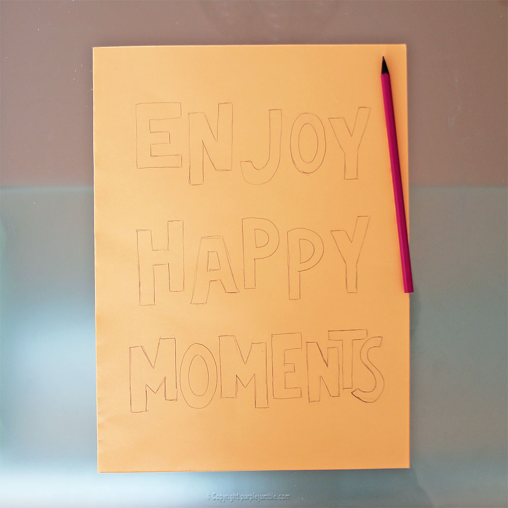 affiche enjoy happy moments lettres