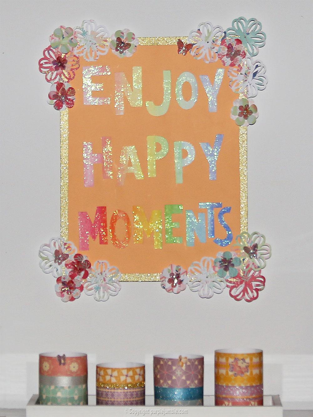 affiche enjoy happy moments mur