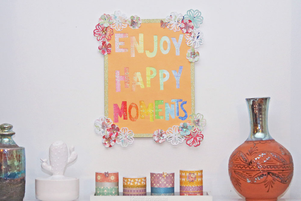 affiche enjoy happy moments décoration murale